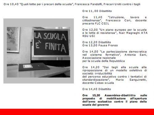 Seminario di approfondimento Autoconvocati Scuola Roma