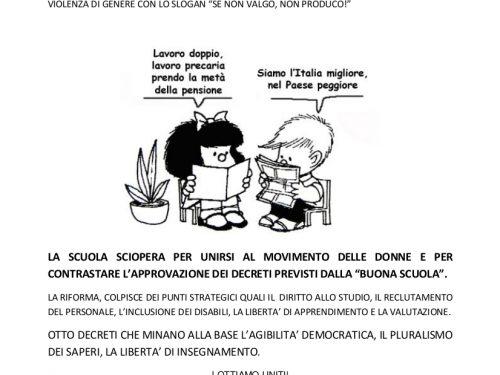 Volantino sciopero 8 marzo